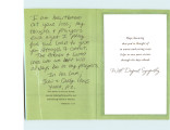 Condolence Card from John and Carolyn Hays