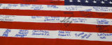 American Flag with Many Signatures