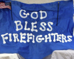 God Bless Firefighters Banner
