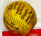 Personalized Yellow Softball