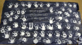 Banner of Handprints from Buena Park, California Boys and Girls Club