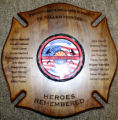 "Wooden ""Heroes Remembered"" Plaque"
