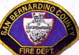 San Bernardino County Fire Department Patch