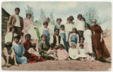 Members of the church, Second Mesa, Toreva, Arizona.  Miss Mary McLean at the right of the picture