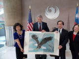 Taipei Sister Cities Chairwoman Lin Ling Lee, Taiwan Artist Chris Ho and Vice Mayor Jim Waring
