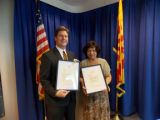 Taipei Sister Cities Chairwoman Lin Ling Lee and Mayor Greg Stanton