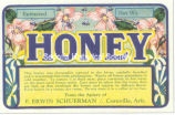 Erwin Schuerman's honey label