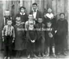First families' children at school, approximately 1893