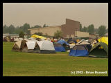 Wildfire:  Rodeo-Chediski 6-22-2002 --  Wildfire Fighter Encampment