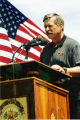 Wildfire: Rodeo-Chediski 6-30-2002 --  Forest Service spokesman Jim Paxon Holds Community Together