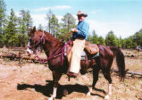 Bill Mack on Horseback during Charro Ride.