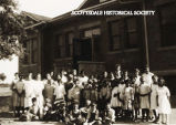 Children in front of Scottsdale Schoolhouse.