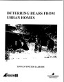 Deterring bears from urban homes
