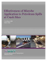 Effectiveness of microbe application to petroleum spills at crash sites