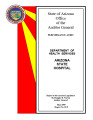 Performance audit, Department of Health Services, Arizona State Hospital report to the Arizona...