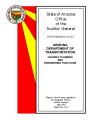 Performance audit, Arizona Department of Transportation, Highway planning and engineering functions