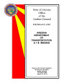 Performance audit, Arizona Department of Transportation, A+B bidding