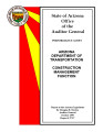 Performance audit, Arizona Department of Transportation, construction management function