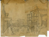 Hand-drawn Sketch of Western Town