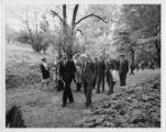 Stewart L. Udall and Robert Frost at Dumbarton Oaks