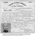 US Certificate of Residence for Tucson, Arizona - Ah Chung